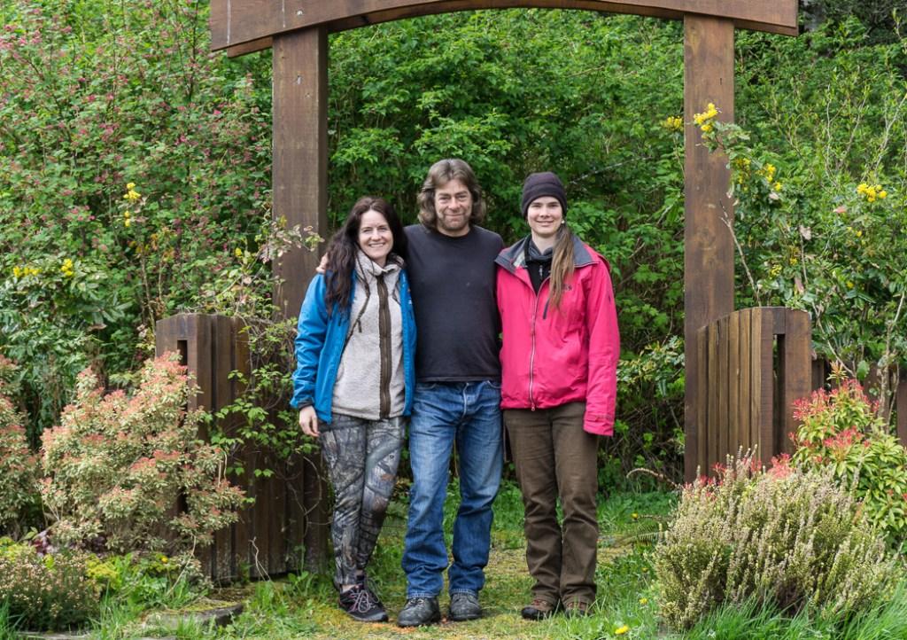 Learning wilderness survival with Megan Hanacek, Carleigh Fairchild and Greg Ovens