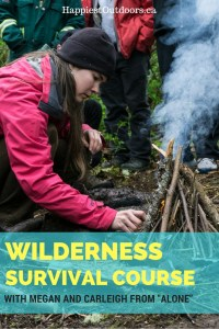 """What it's like to take a wilderness survival course with Megan Hanacek and Carleigh Fairchild of History Channel's """"Alone"""" 