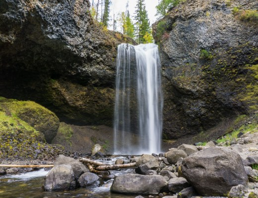 Moul Falls, one of the many gorgeous waterfalls in Wells Gray Provincial Park near Kamloops, BC
