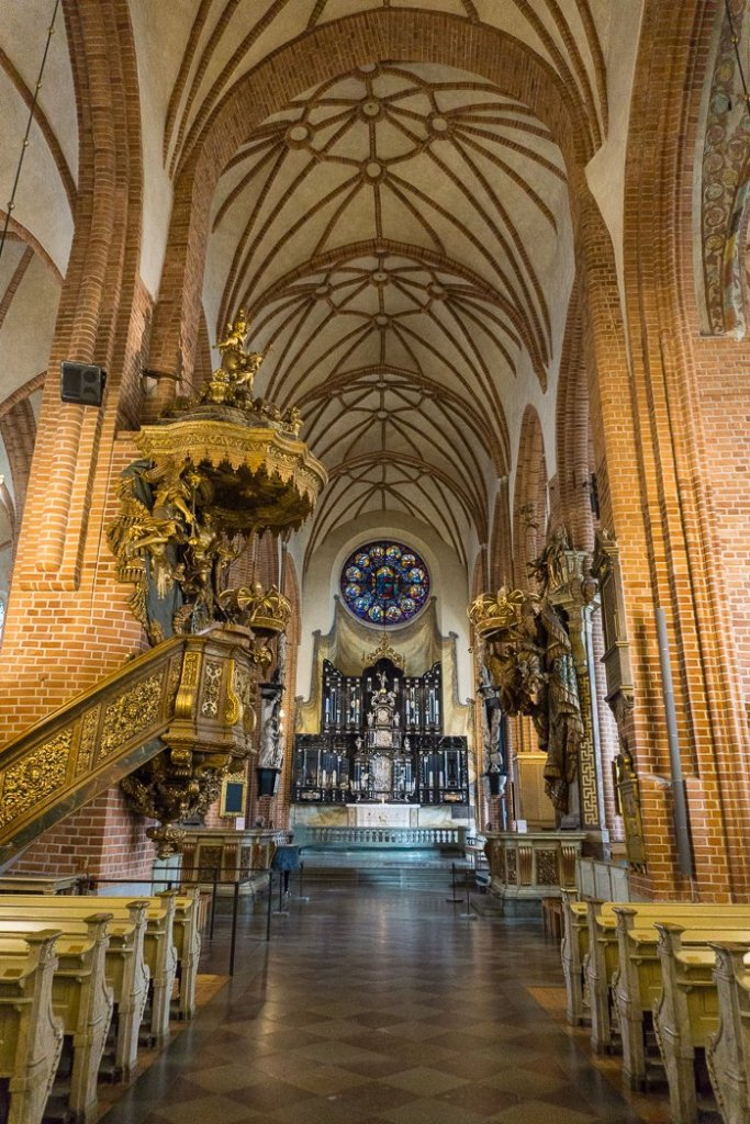 The interior of Storkyrkan Church in Stockholm. Visit it on the Ultimate Self-Guided Walking Tour of Stockholm.