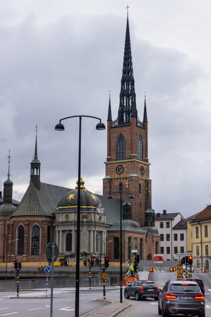 Riddarholm Church in Gamla Stan, Stockholm. Visit it on the Ultimate Self-Guided Walking Tour of Stockholm