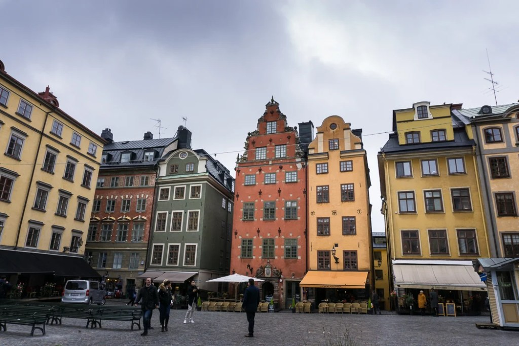 Stortorget Square in old town Stockholm. Visit it on the Ultimate Self-Guided Walking Tour of Stockholm.