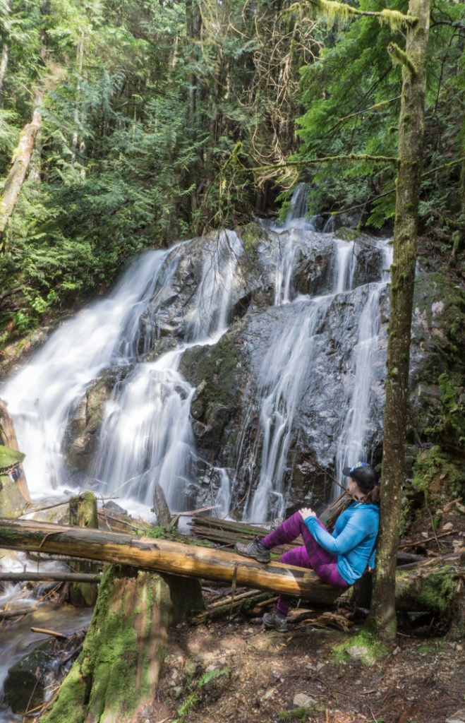 Mystery Falls in Mount Seymour Provincial Park, North Vancouver, BC, Canada