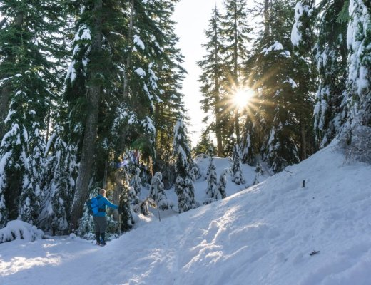 Snowshoeing at Cypress Mountain near Vancouver, BC.