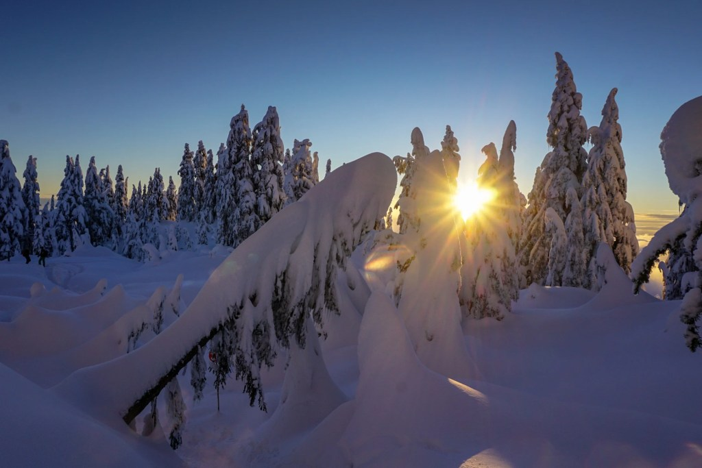 Snowshoeing at Grouse Mountain near Vancouver, BC. The Ultimate Guide to Snowshoeing in Vancouver.
