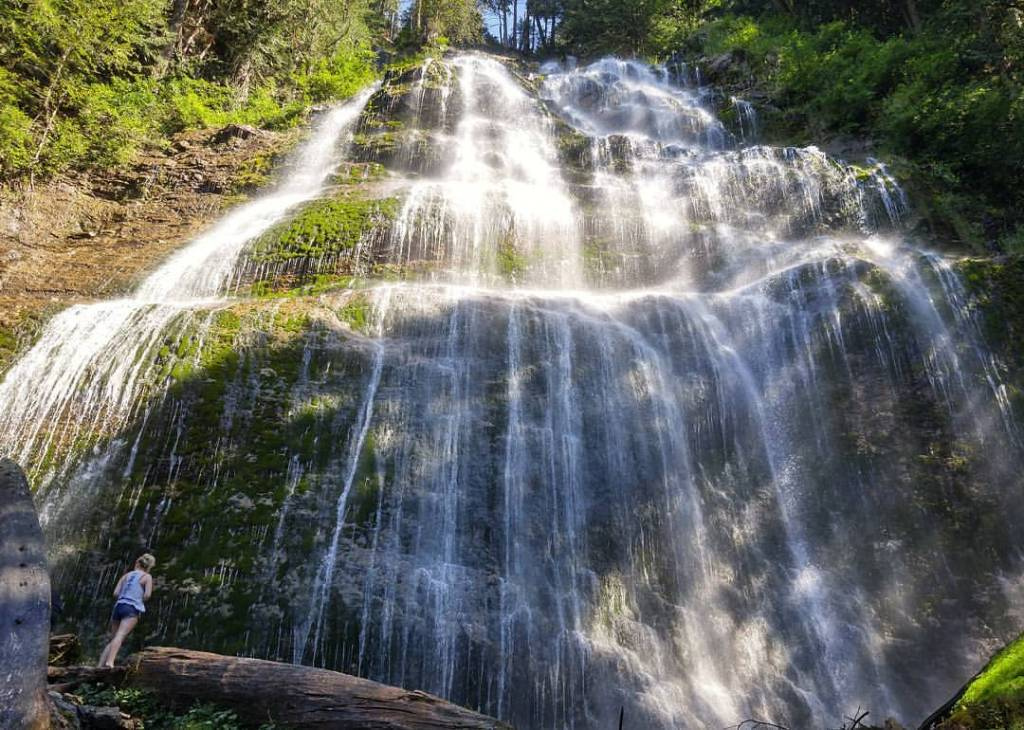 Bridal Veil Falls near Chilliwack, one of over 100 snow-free hikes in Vancouver that you can hike all year long.