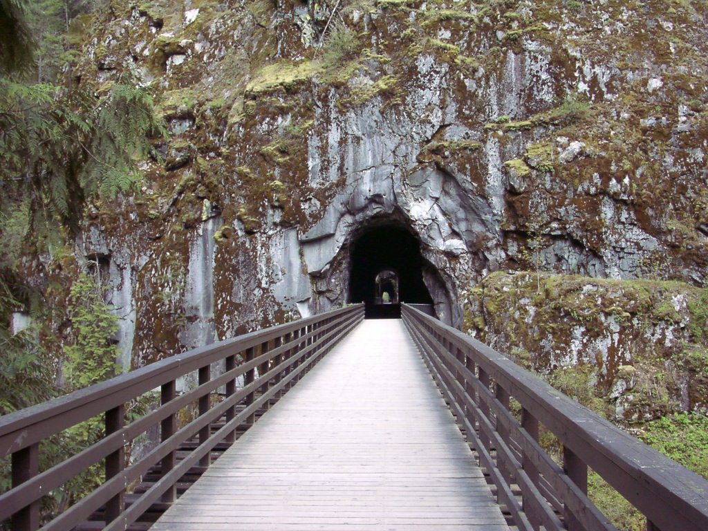 An abandoned train tunnel at the Othello Tunnels near Hope. Just one of 15 unusual hikes near Vancouver.