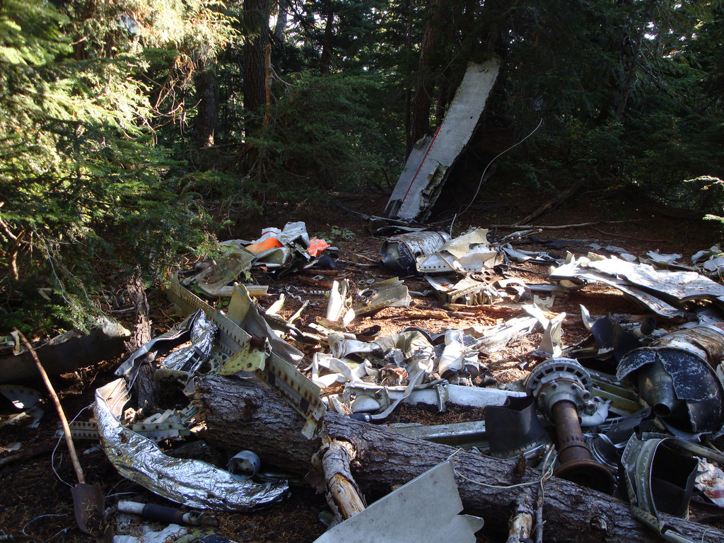 Plane crash wreckage on Mount Strachan at Cypress Mountain in West Vancouver. Just one of 15 unusual hikes near Vancouver.