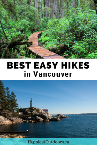 Best easy hikes in Vancouver, British Columbia, Canada. 6 easy hikes with great views that both visitors and locals will love.