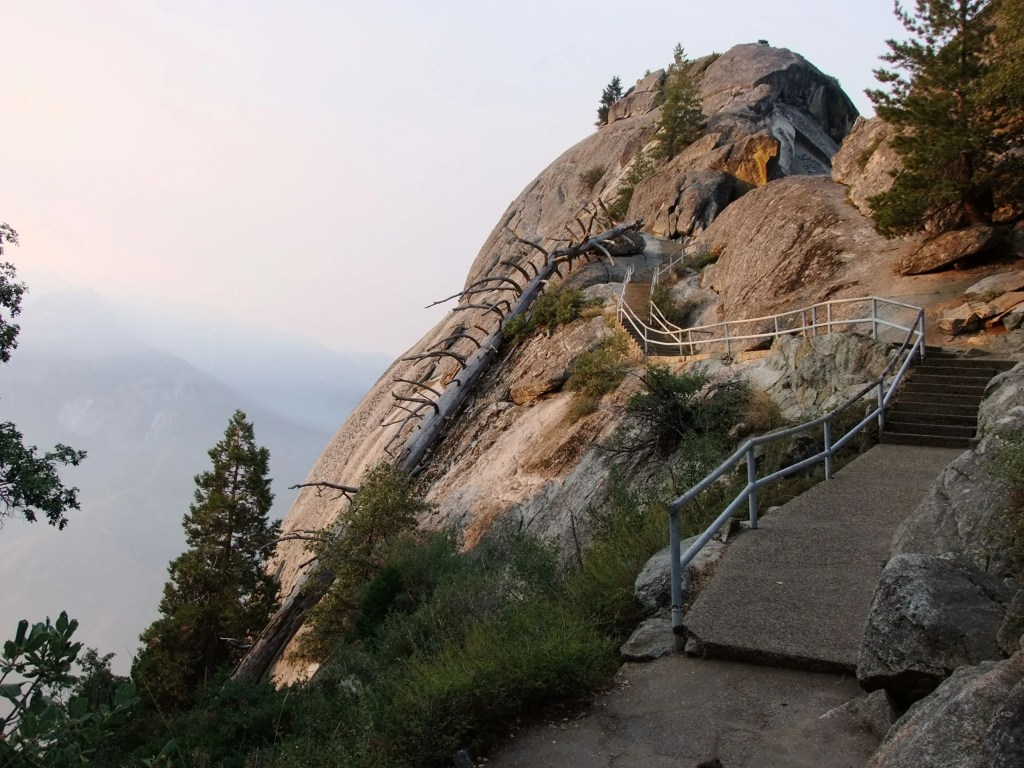 Exploring the trails at Moro Rock in Sequoia National Park - just one of many things to do in Sequoia and Kings Canyon National Parks.