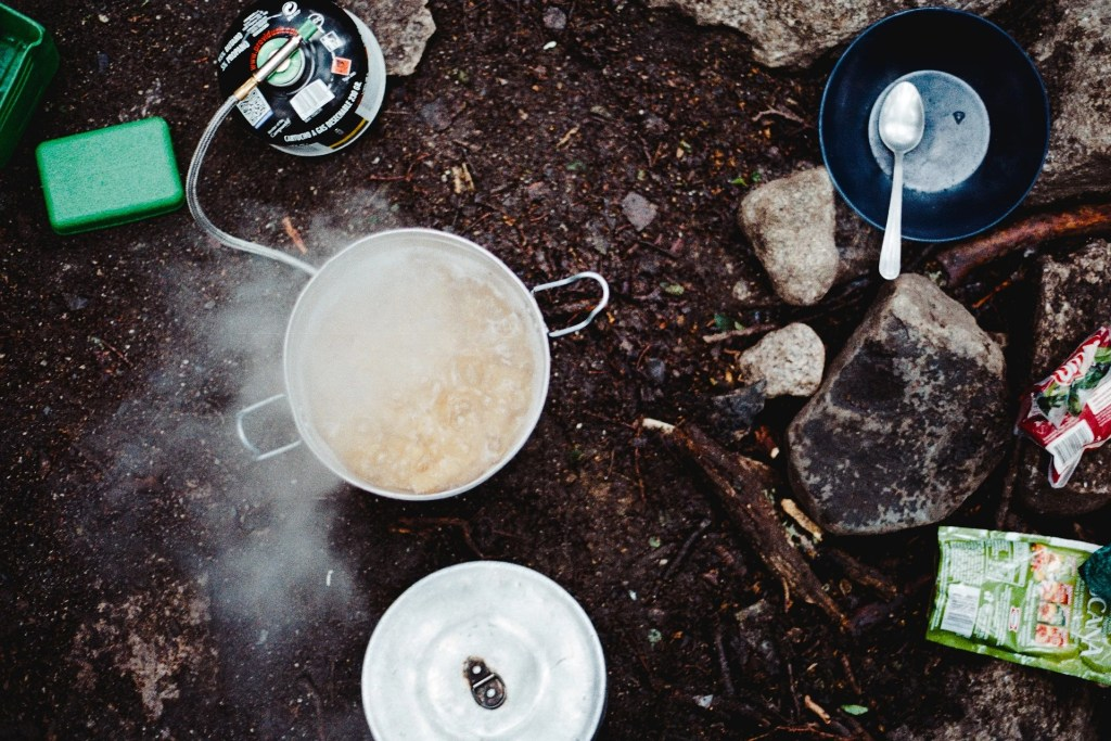 Backcountry camp kitchen. How to choose backpacking meals.