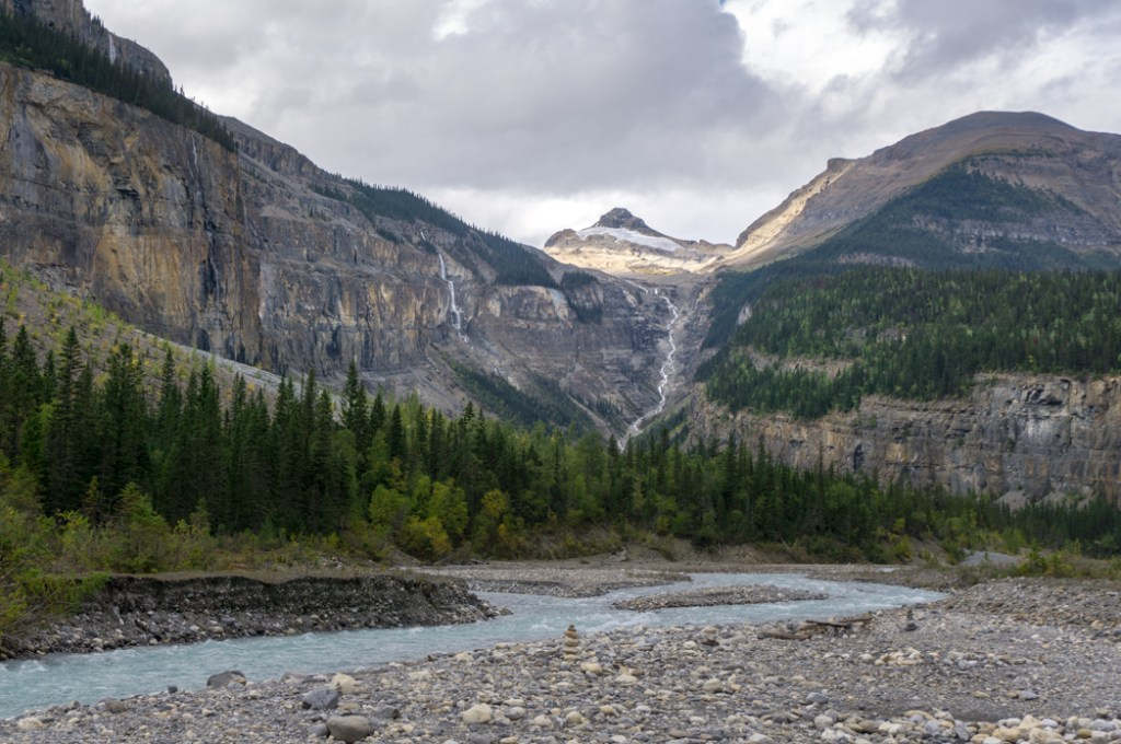 The view from Whitehorn campground on the Berg Lake Trail. The Ultimate Guide to Hiking the Berg Lake Trail in Mount Robson Provincial Park in the Canadian Rockies