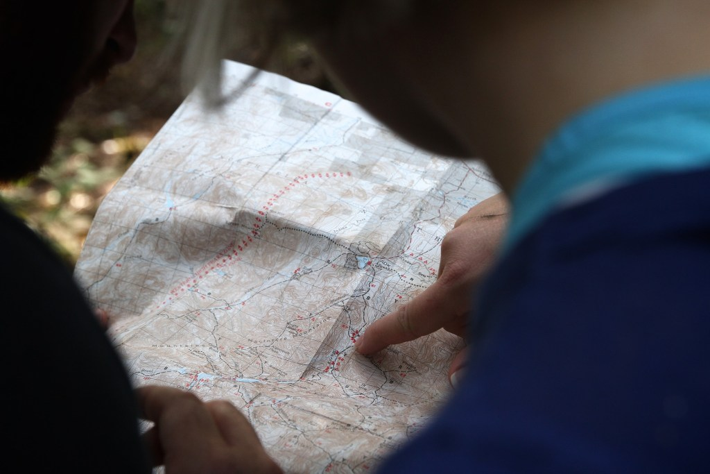Studying a hiking map before you go helps you plan ahead and prepare. Learn how to Leave No Trace when hiking and camping to keep the wilderness wild.