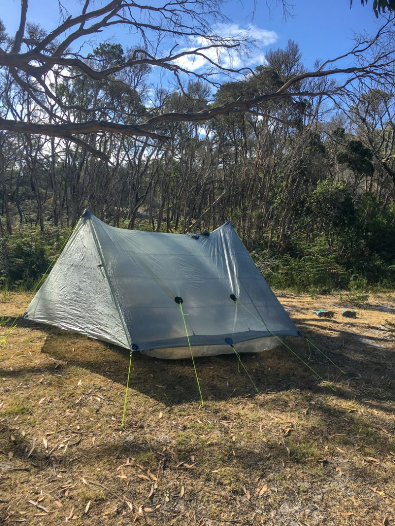 Camping near Arthur River on the Tarkine Drive in Tasmania