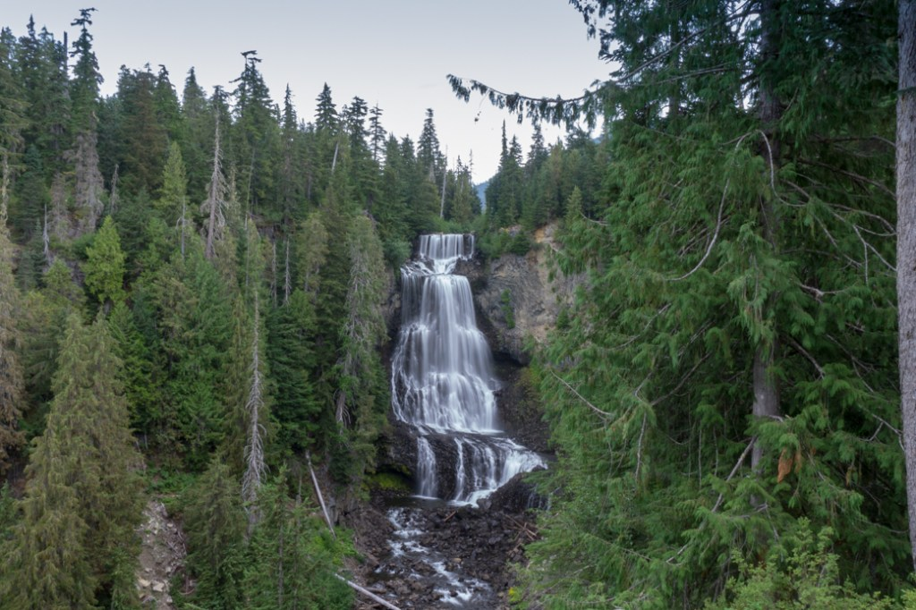 Alexander Falls near Whistler, BC. Just one of over 40 waterfalls near Vancouver you can hike to.