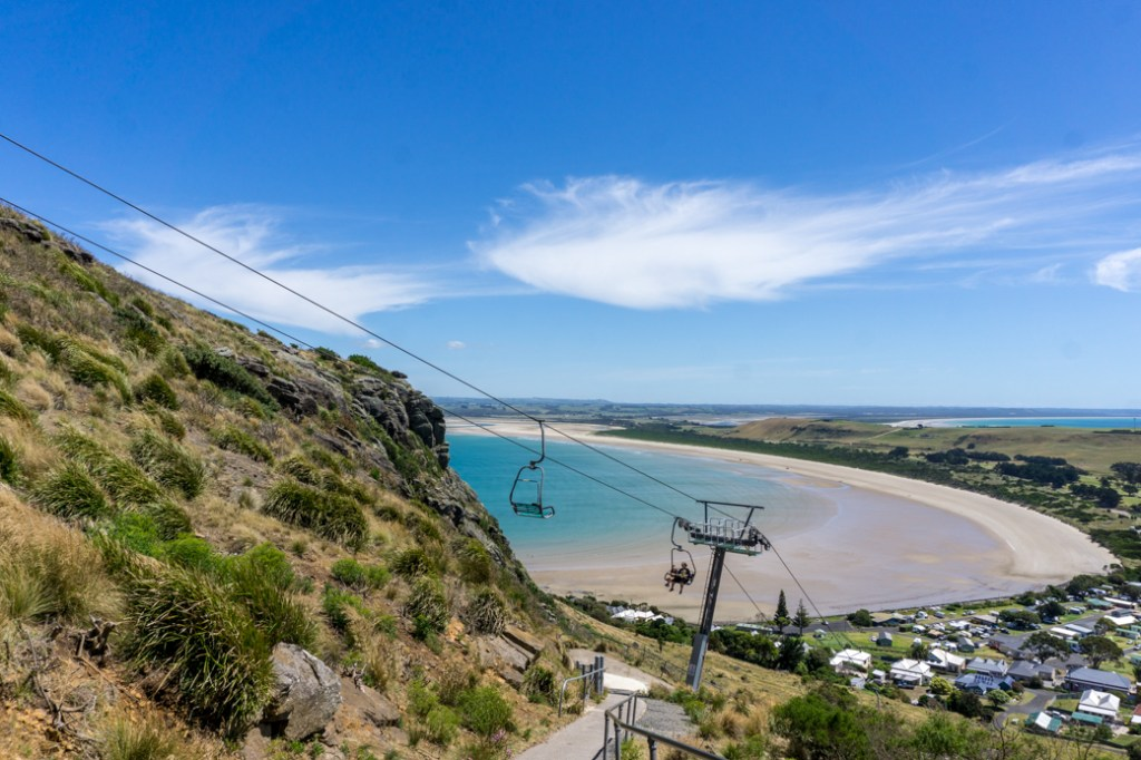 The chairlift to the top of the Nut in the town of Stanley, Tasmania. Just one of over 40 things to do in Devonport and Tasmania's North West.