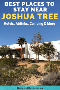 Where to stay in Joshua Tree, California. Includes hotels, Airbnbs, camping and more. #JoshuaTree #California
