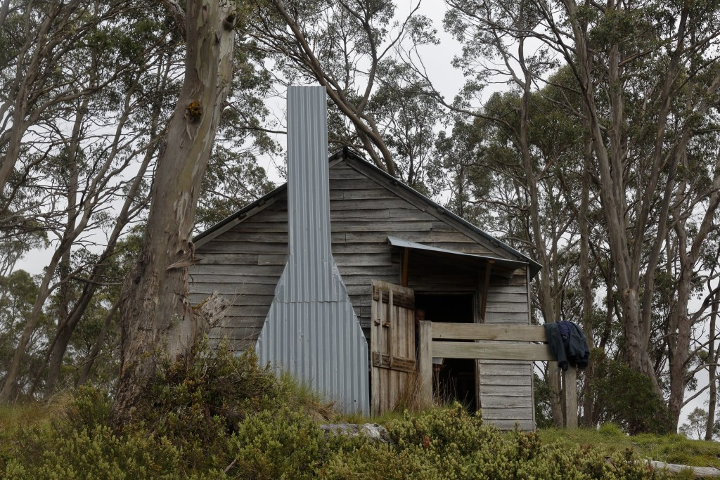 Old Pelion hut is a short side trip from the Overland Track