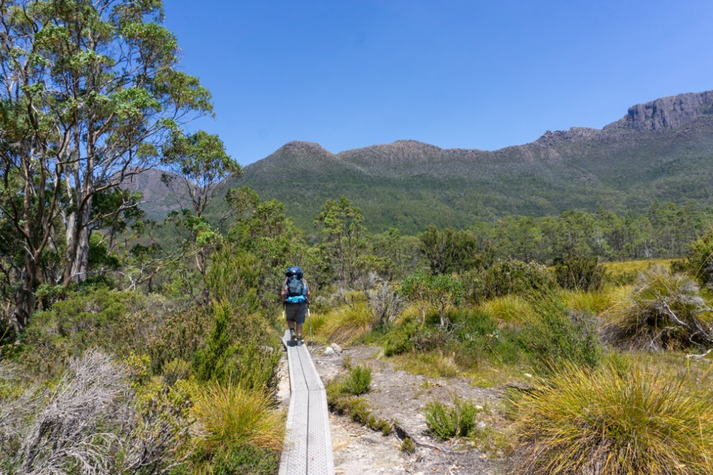 Walking the duckboards on the Overland Track