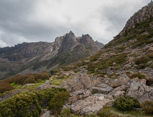 Hiking up Mount Ossa - one of the best Overland Track side trips