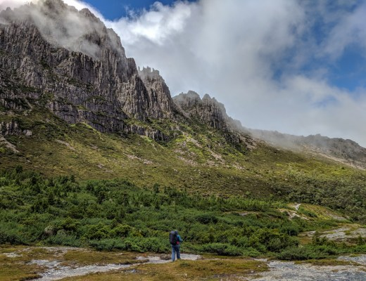 Hiking on Tasmania's Overland Track.