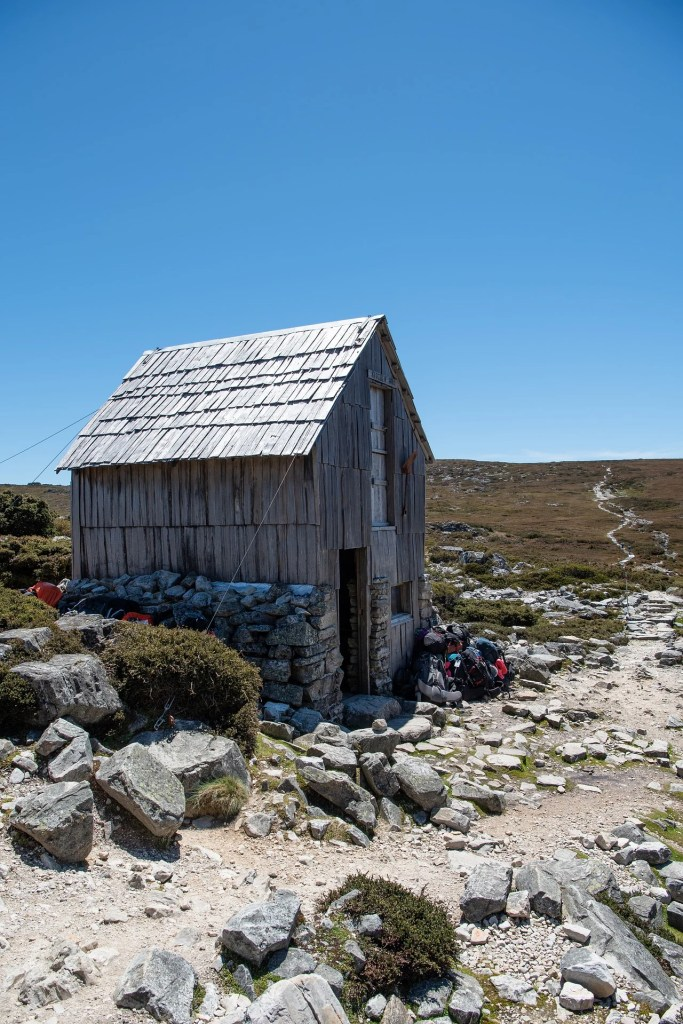 Kitchen Hut on the first section of the Overland Track from Ronny Creek to Waterfall Valley
