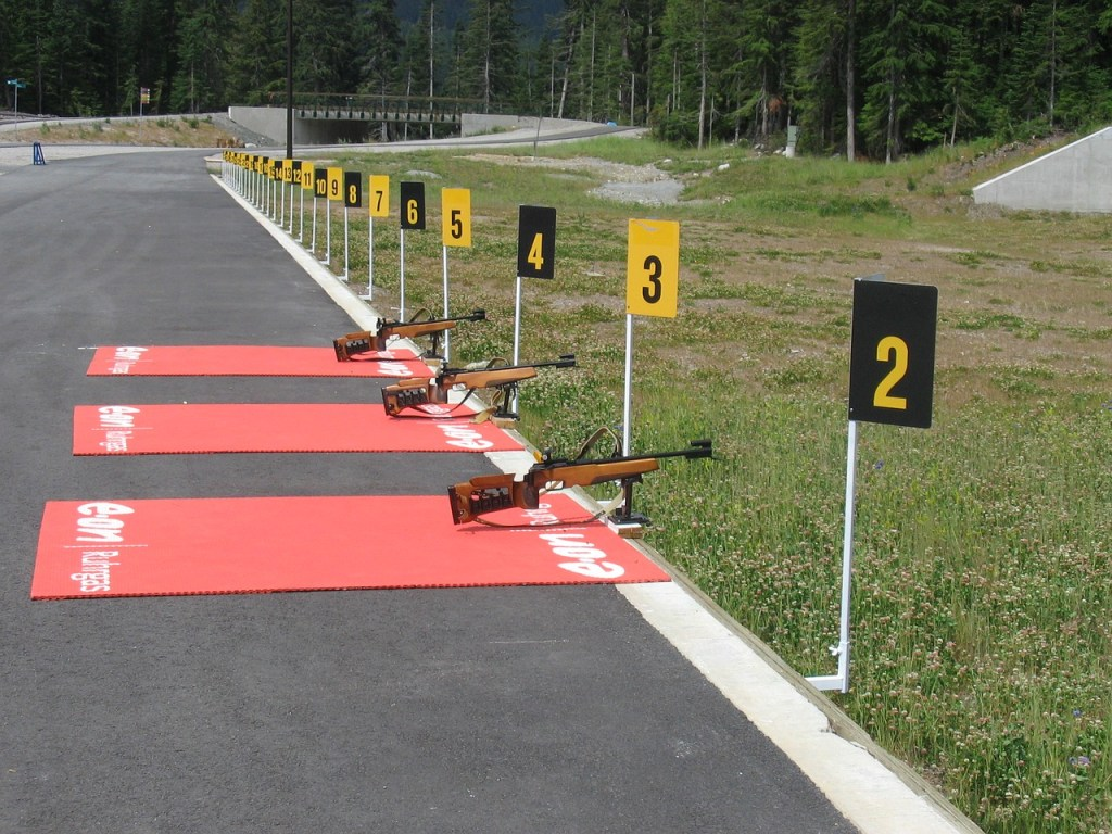 Summer biathlon practice at Whistler Olympic Park