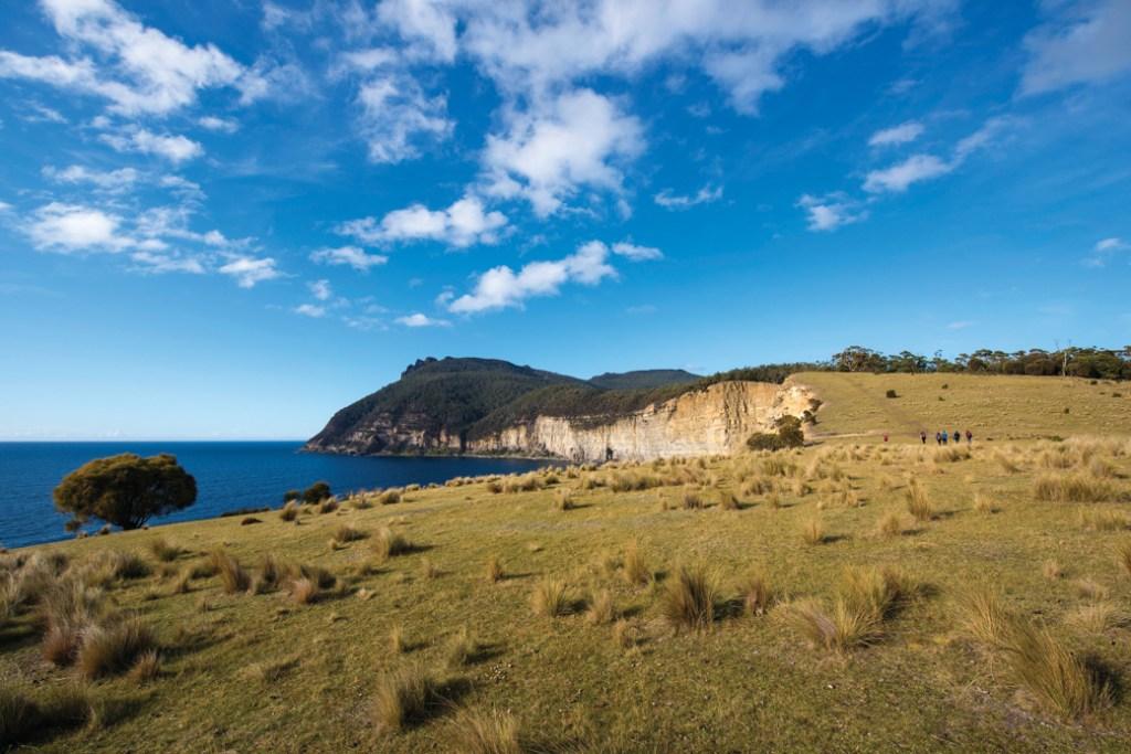 Bishop and Clerk Peaks on Maria Island, Tasmania, Australia