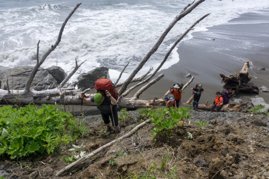 The landslide on Third Beach in Olympic National Park