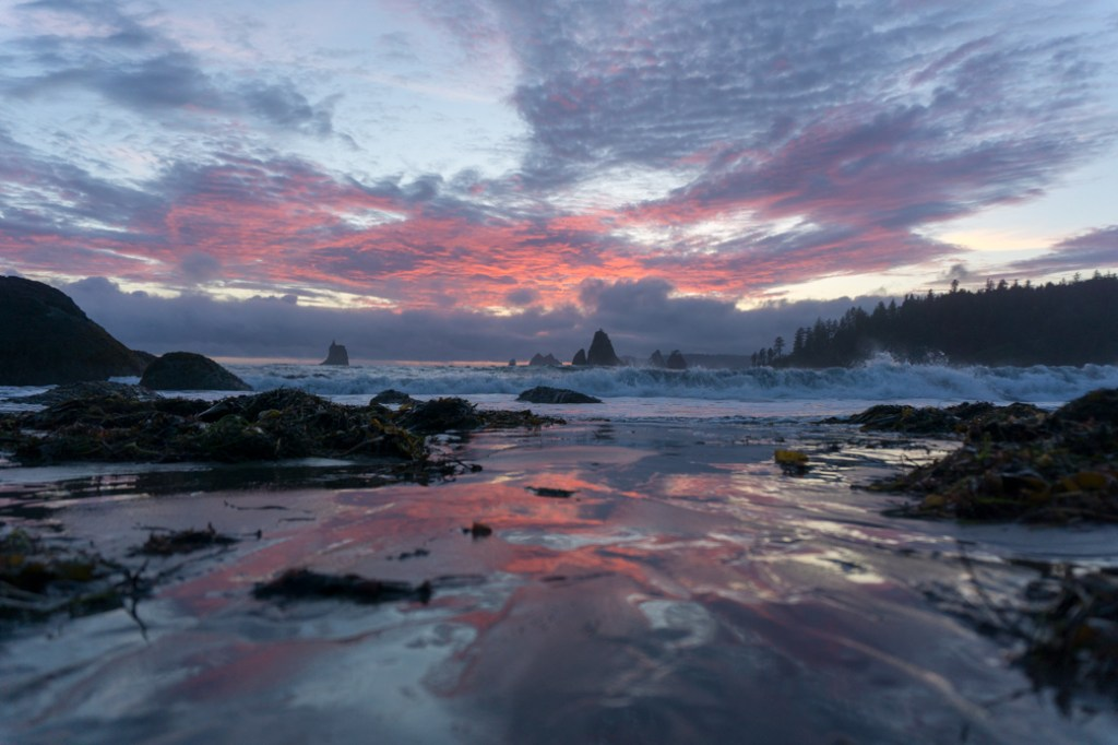 Sunset at Toleak Point in Olympic National Park
