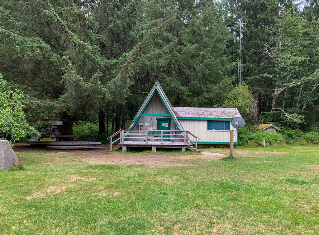 The Parks Canada office at the Pachena Bay trailhead for the West Coast Trail near Bamfield, BC