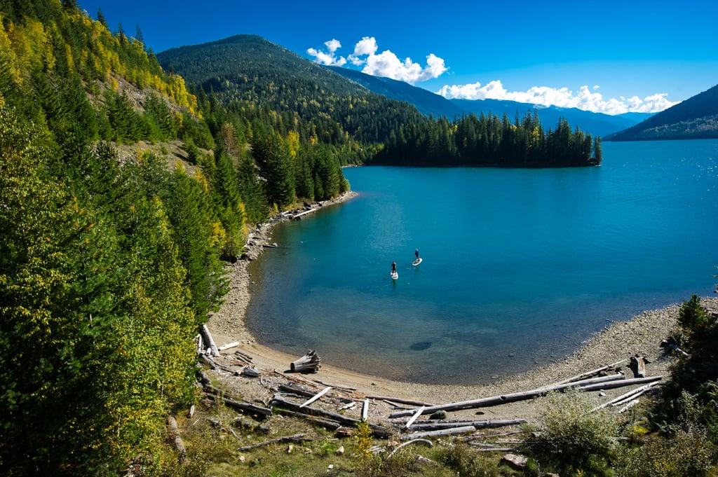 Stand Up Paddleboarding on Lake Revelstoke