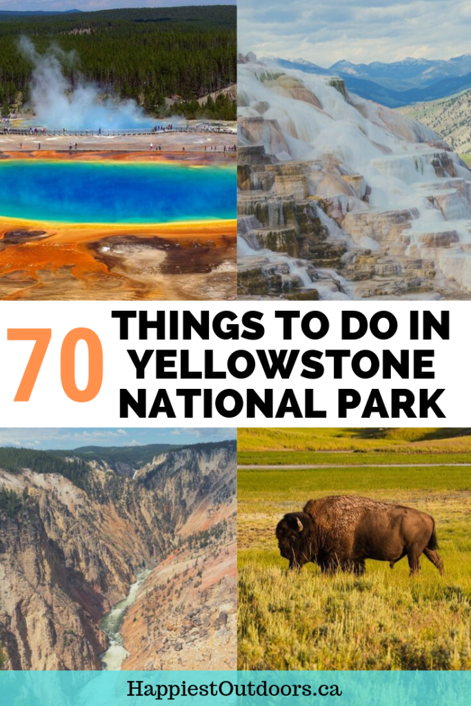 70 things to do in Yellowstone National Park. Your Yellowstone Bucketlist. Plan your visit with this huge list of things to see in Yellowstone National Park. #YellowstoneNationalPark #Yellowstone #Wyoming