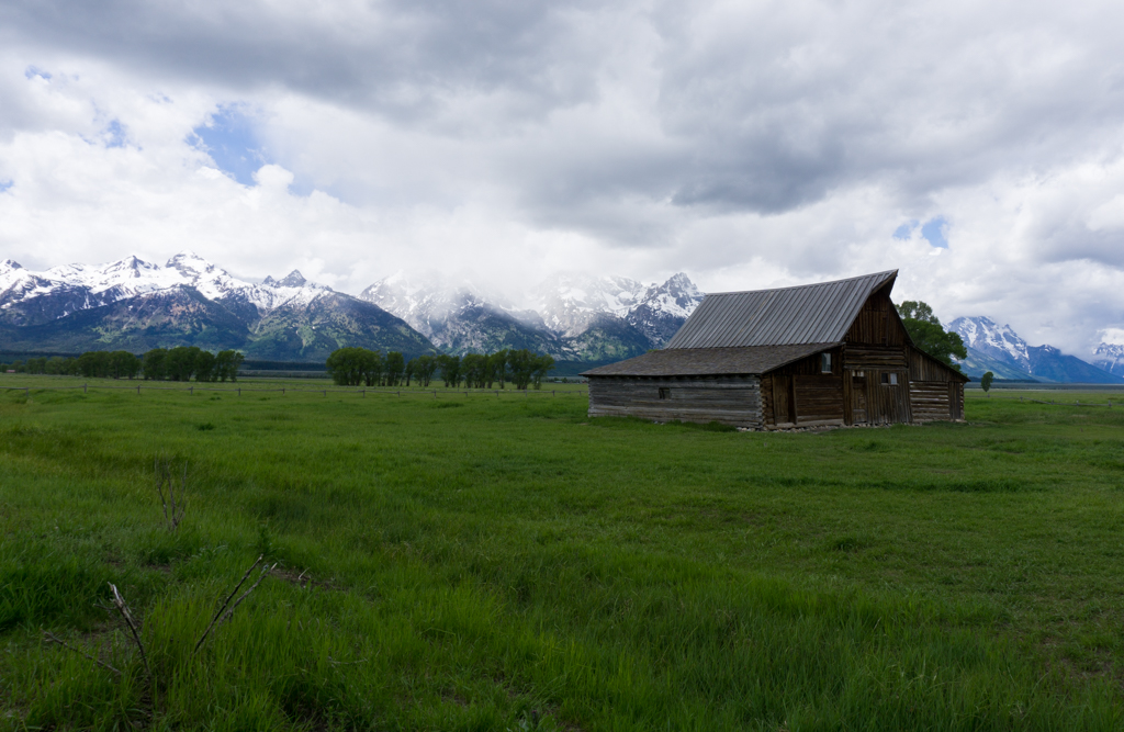 One of the historic barns on Mormon Row in Grand Teton National Park