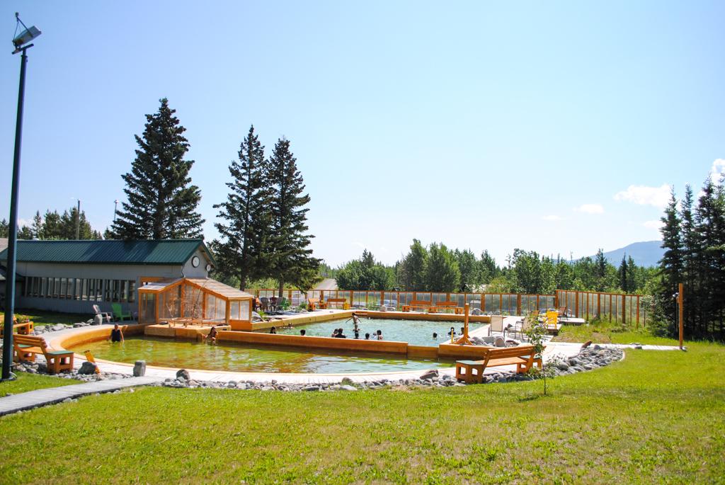 Takhini Hot Springs in Yukon Territory, Canada