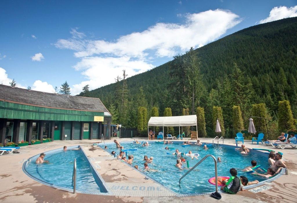 Nakusp Hot Springs in British Columbia's Kootenay region