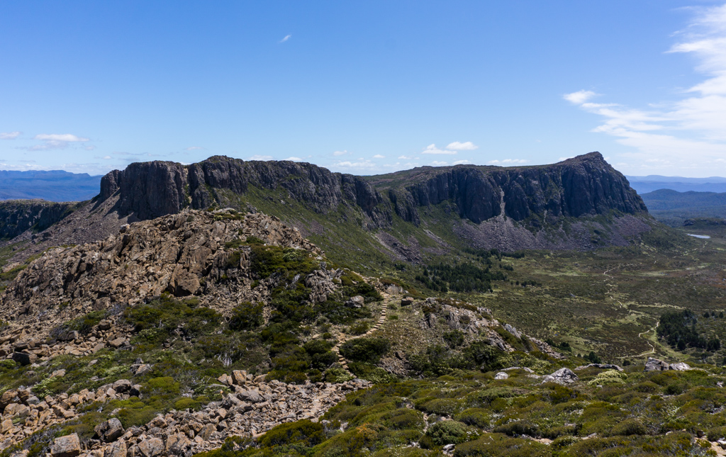 The view from the summit of the Temple in Tasmania