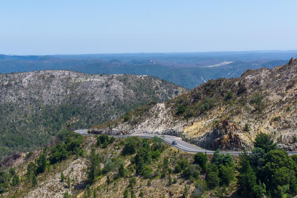 The curvy road into Queenstown, Tasmania