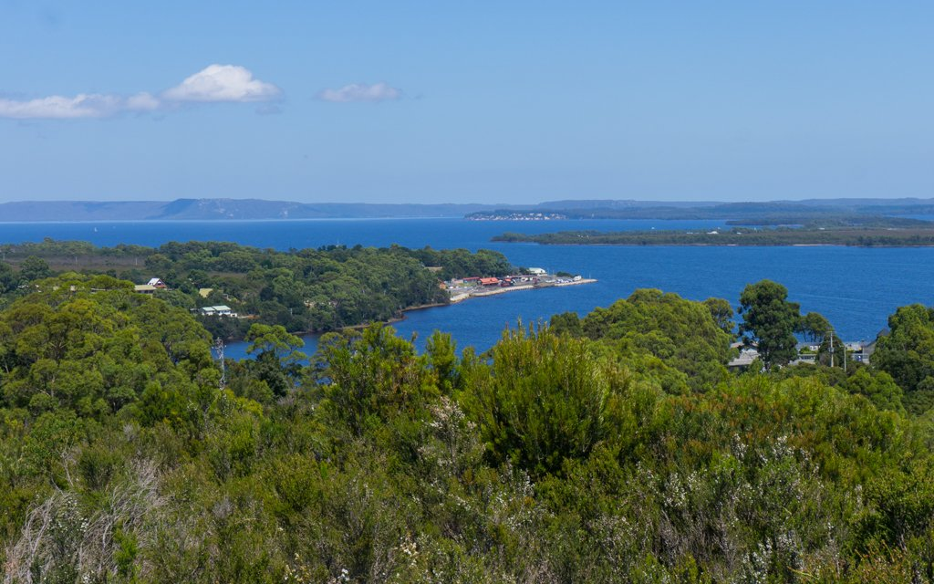 The view form Water Tower Hill above Strahan, Tasmania