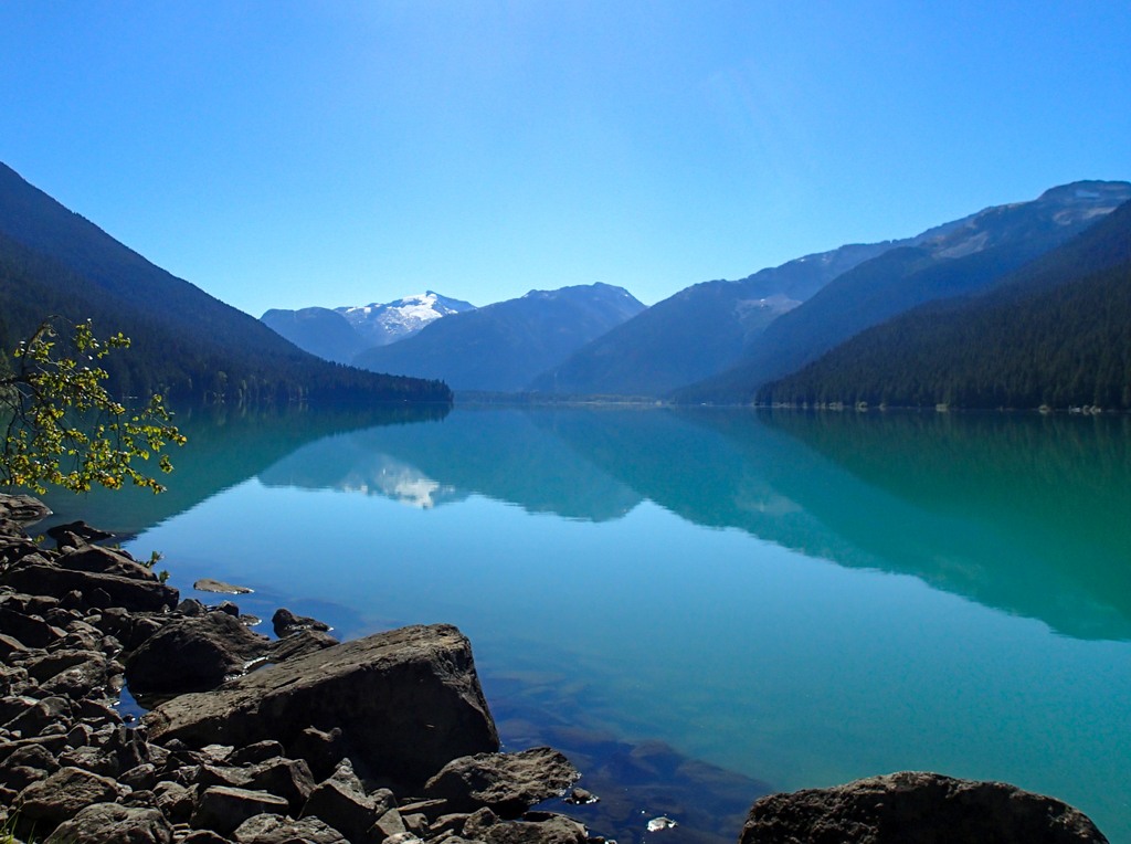 Reflections on Cheakamus Lake in Whistler