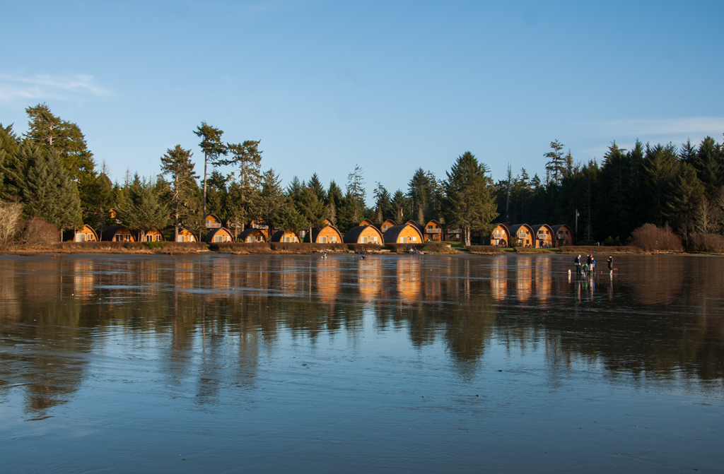 Cabins at Ocean Village on MacKenzie Beach in Tofino