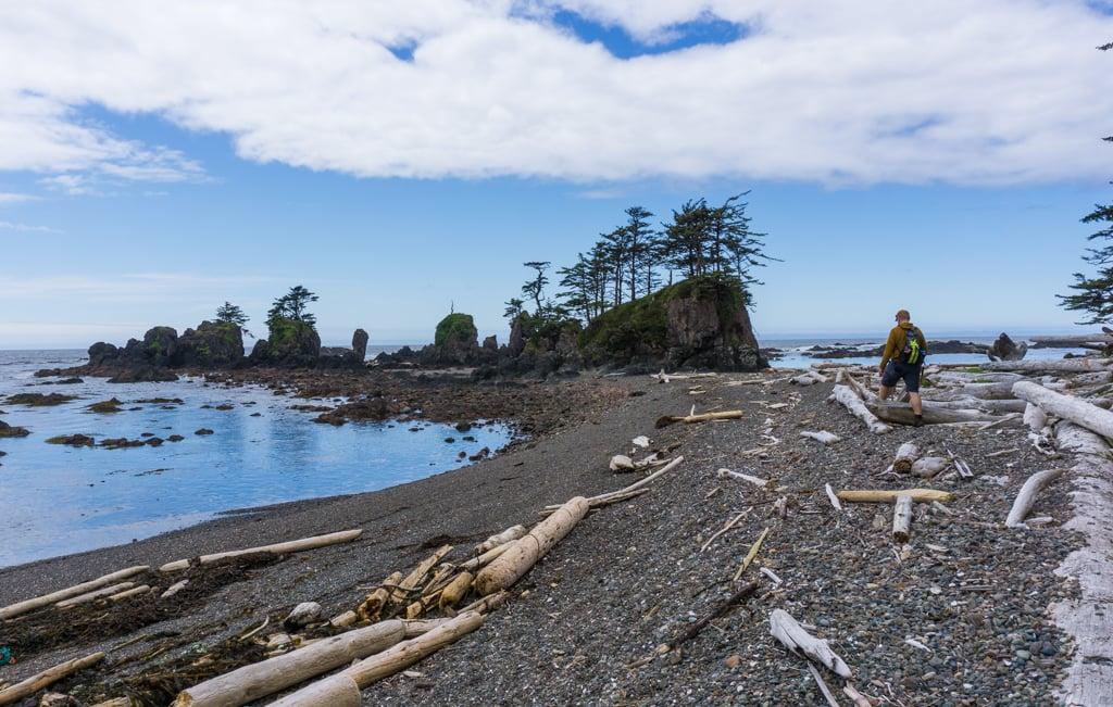 Sea stacks at Cape Scott Provincial Park