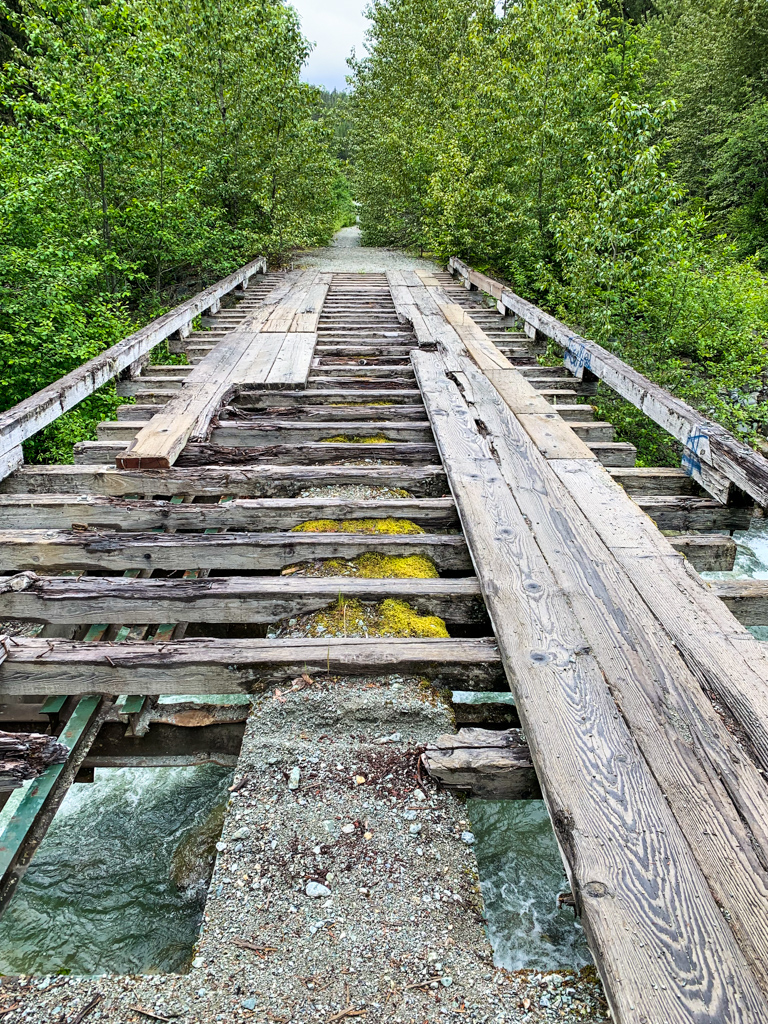 Deteriorating bridge in Whistler, BC