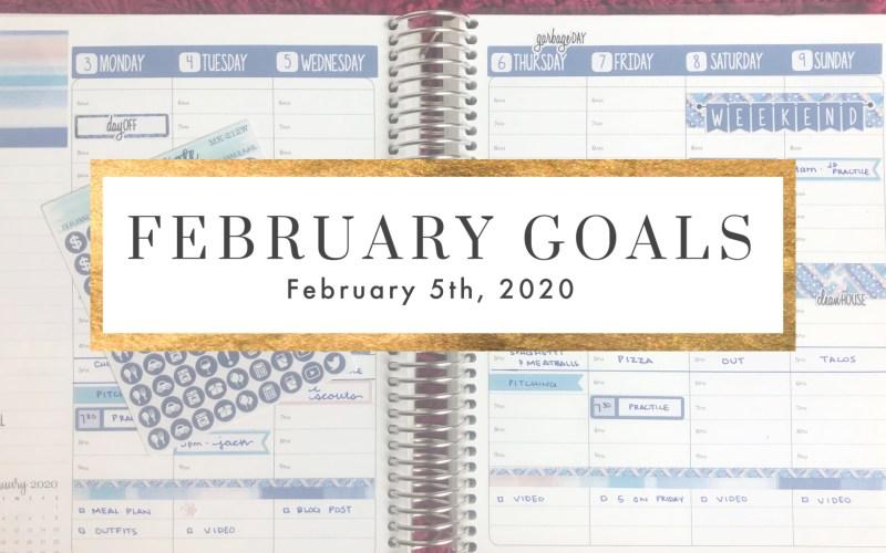 FEBRUARY GOALS 2020