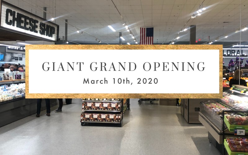GIANT GRAND OPENING EVENT