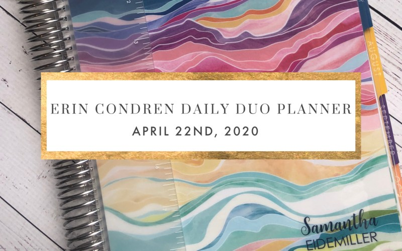 ERIN CONDREN DAILY PLANNER REVIEW
