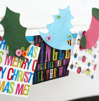 Create holiday cards with kids at home