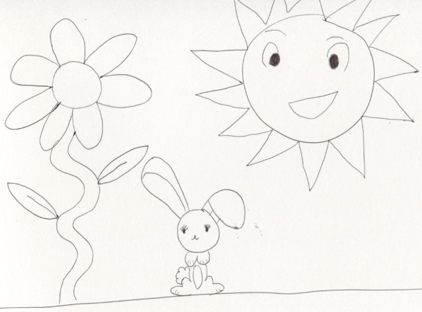 daughter's cartoon (a bunny of course)