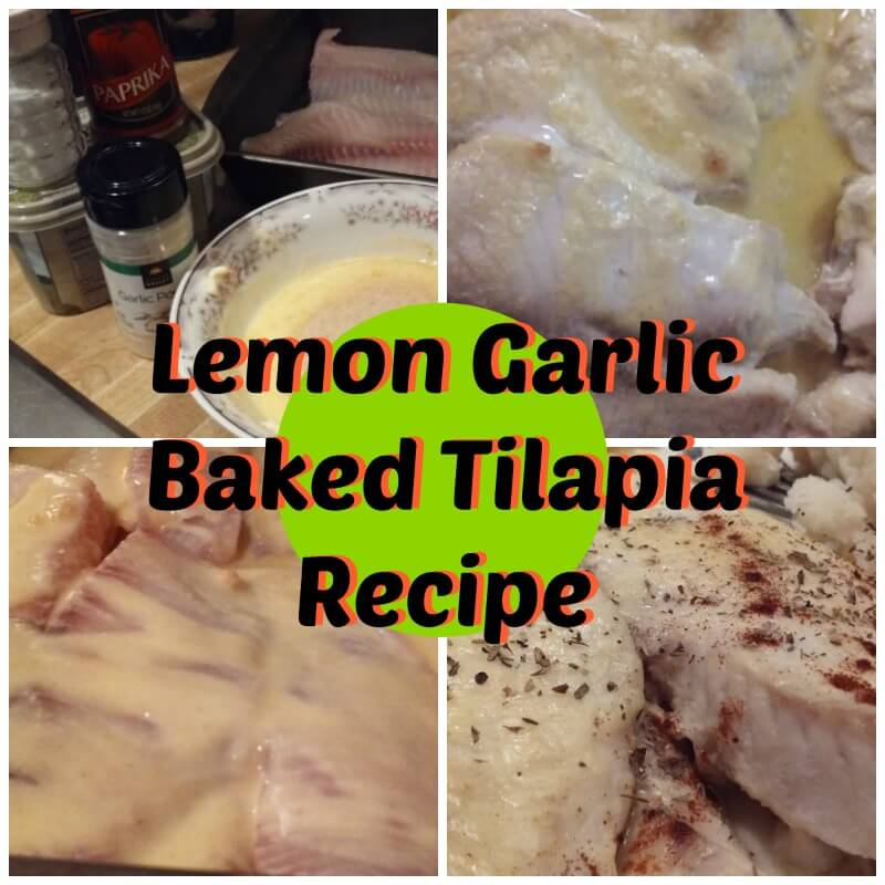 Lemon Garlic Baked Tilapia Recipe