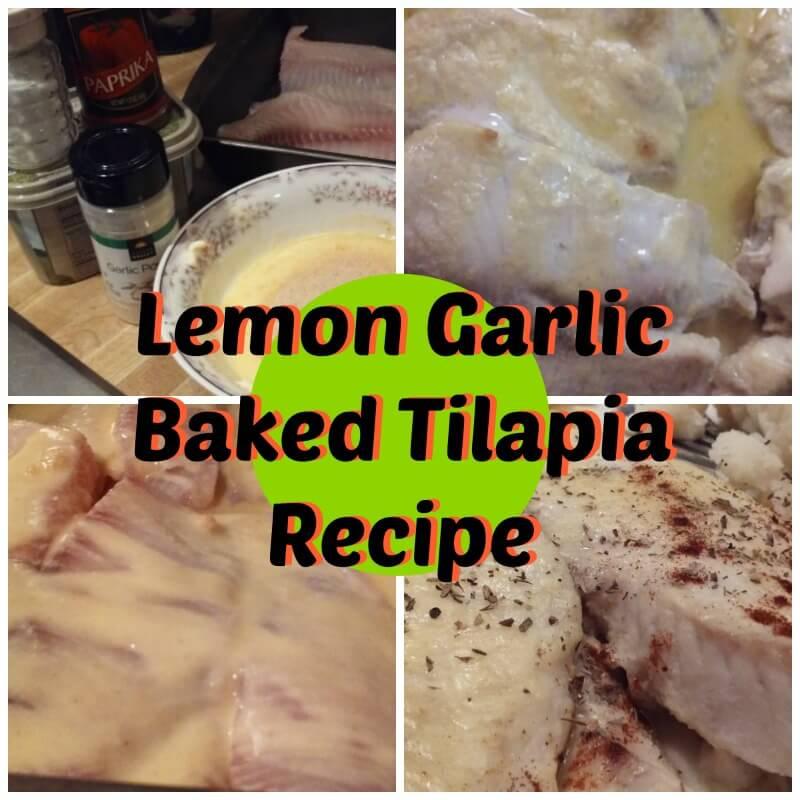 Lemon Garlic Baked Tilapia Recipe
